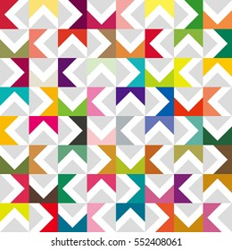 half square image,vivid color and gray scale tile - Geometric seamless pattern