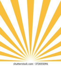 Half Sun Rays retro background, yellow colored sunburst stylish. Shine Summer pattern Eps10. Vector starburst illustration
