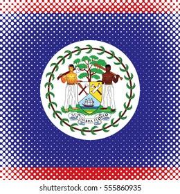 Half Tone Flag - Belize