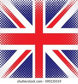 Half Tone Flag - United Kingdom