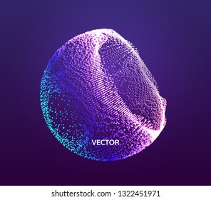 The Half-sphere Consisting of Points. Abstract Grid. Semi-sphere Illustration. 3D Network Design. Technology Concept. Vector Illustration.
