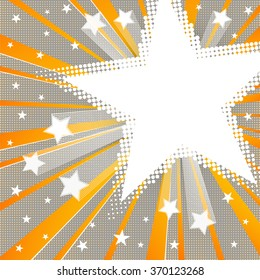 Halftone Background with Stars. Holiday abstract vector background with place for text