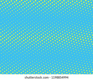 Halftone Background. Yellow and blue color. Digital Gradient. Pop-art style. Grunge Backdrop. Modern futuristic Pattern. Abstract panel. Vector illustration