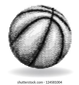 Halftone basketball