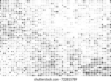 Halftone black and white. Vector background abstract monochrome. The texture of the spots of ink print and design