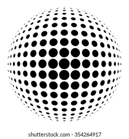 Halftone circle for design project - vector illustration