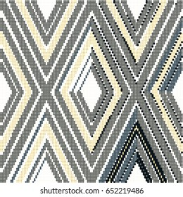 Halftone colorful seamless retro pattern check geometry cross line