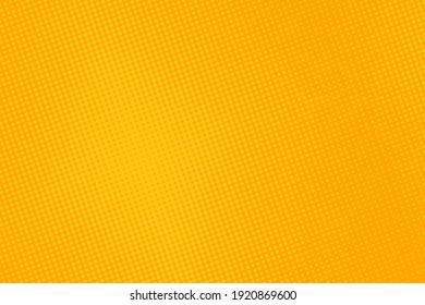 Halftone comic pattern. Yellow pop art background. Half tone texture with dots. Cartoon splash effect. Retro diagonal print with circles. Vector illustration. Geometric modern duotone cover.