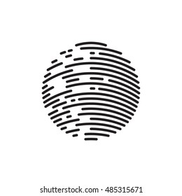 Halftone design element. Sphere, circle. Vector illustration EPS 10 isolated on white background