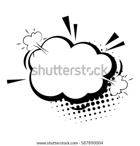 Halftone Dot Background Style Pop Art Stock Vector Royalty Free