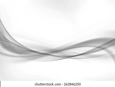 Halftone dot pattern swoosh layout abstract template. Vector illustration