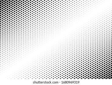 Halftone Dots Background. Monochrome Overlay. Vintage Backdrop. Points Grunge Texture. Vector illustration