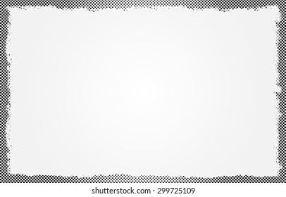 Halftone dots background.Grunge halftone frame.Vector illustration.
