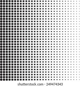 halftone dots. Black dots on white background, vector, illustration