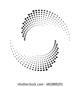 Halftone dots circle texture. Abstract circle background. Vector geometric pattern.