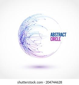 Halftone dots circle. Vector illustration.