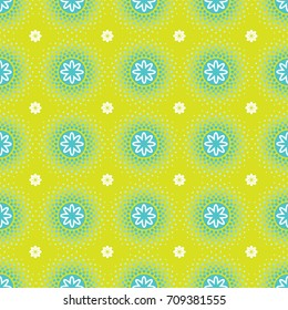 Halftone Dots with flower pattern
