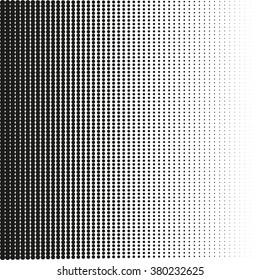 Halftone dots gradient in vector format