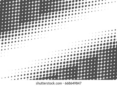 Halftone dots texture. Creative geometric pattern. Vector abstract background.