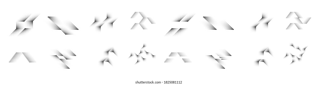 Halftone dots . Vector Illustration .Technology  Logo . Design element . Abstract Geometric shape .