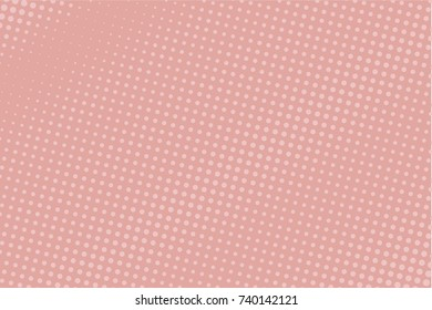 Halftone dotted background. Pop art style. Retro pattern with circles, dots, design element for web banners, posters, cards, Wallpaper, backdrops, sites. Pink, light color. Vector illustration