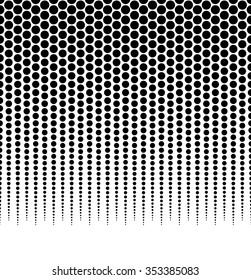 Halftone, dotted pattern, background. (Horizontally seamless.)