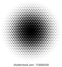 Halftone element with square or triangle instead of circles