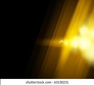 Halftone golden light background. Vector illustration