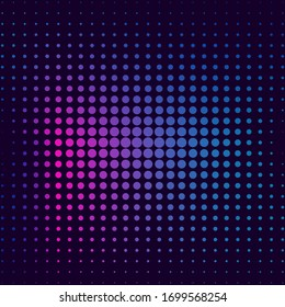 Halftone gradient pattern. Halftone dots colorful texture for your design. Abstract neon background. Vector illustration