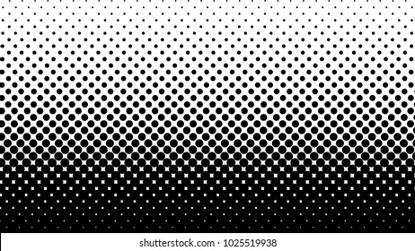 Halftone gradient pattern vertical vector illustration. Black white dotted halftone texture. Pop Art black white halftone Background. Background of Art. EPS10