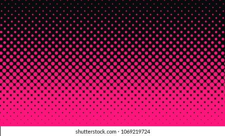 Halftone gradient pattern vertical vector illustration. Pink dark dotted, black halftone texture. Pop Art black pink halftone, comics Background. Background of Art. EPS10