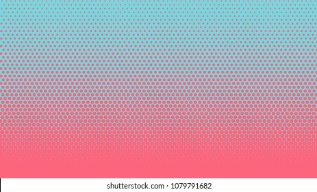 Halftone gradient pattern vertical vector illustration. Pink blue dotted, blue halftone texture. Pop Art blue pink halftone, comics Background. Background of Art. EPS10