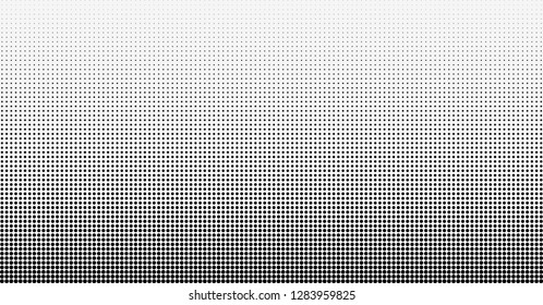 Halftone gradient vector background. From light to dark dots