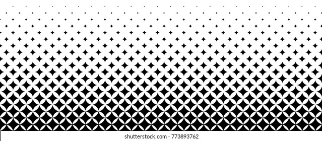 halftone gradients, white and black vector background