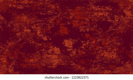 Halftone Grainy Texture with Grunge Dots and Spots. Retro Spotted Pattern. Overlay Grainy Style Texture. Orange and Brown Noise Fashion Print Design Background.