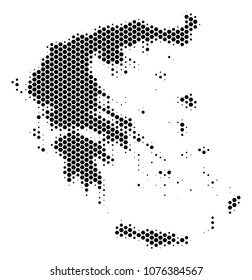 Schematic Greece Map Vector Halftone Geographical Stock ...