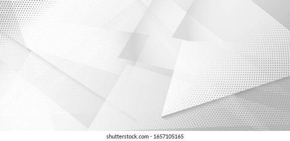 Halftone Minimal Gray Vector Background. Modern Faded Banner. Halftone Wallpaper. Geometric Dots Texture. Pop Art Dots Light Texture. Edgy Art. Gray White Shade Page. Grain Pattern. Geo Lines Shape