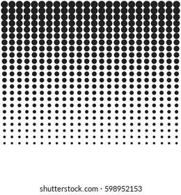 Halftone modern texture background. Abstract dots pop art design. Vector illustration
