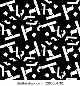 Halftone monochrome texture background. Abstract vintage black and white vector illustration Texture