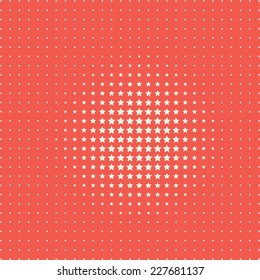 halftone pattern of stars