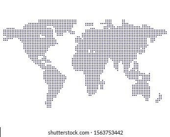 Halftone political map of world Vector illustration Eps 10