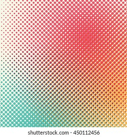 Halftone retro print background