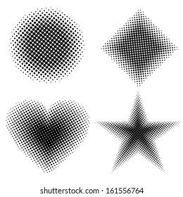 Halftone shapes
