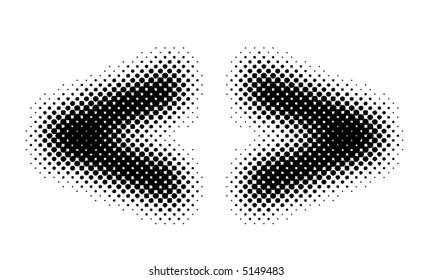 halftone sign / symbol (vector) - part of a full alphabet set