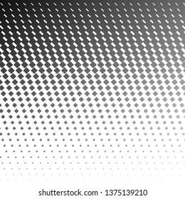 Halftone square background. Vector monochrome black and white gradient