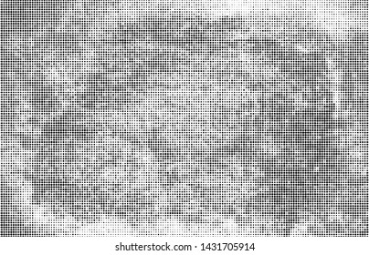 Halftone texture abstract wave of dots