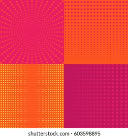 halftone vector backgrounds