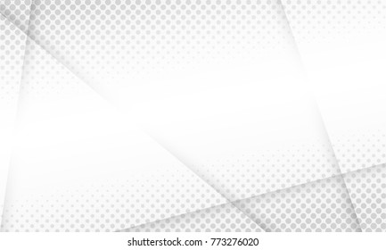 Halftone white & grey background. vector design concept. Decorative web layout or poster, banner.