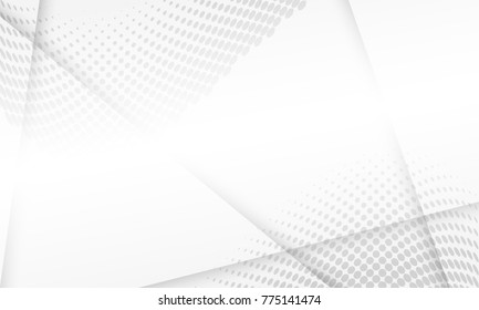 Halftone white and grey background. vector design concept. Decorative web layout or poster, banner.