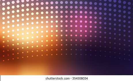 Halftones pattern. Flashy circles background. Abstract blurry vector background.